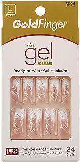 KISS Gold Finger Gel Glam Ready to Wear Gel Manicure Long Nails GF94 (1 PACK)