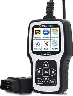 Veepeak OBD2 Scanner OBDCheck Elite Enhanced Check Engine Light Diagnostic Code Reader Reset Tool Analyzer with Full OBD II Modes Support