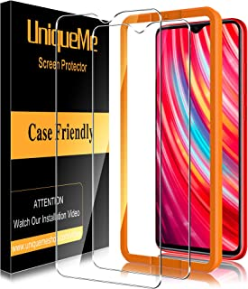 UniqueMe [3 pack] skärmskydd för Xiaommi Redmi Note 8 Pro, [bubbelfri] [9H hårdhet] Anti-repor härdat glas HD klar film fö...