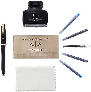 PARKER 派克 都市金边黑色墨水笔套装(中号笔尖) 配4墨水替芯(1760841)