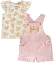 Juicy Couture Baby Girls Shortall Set