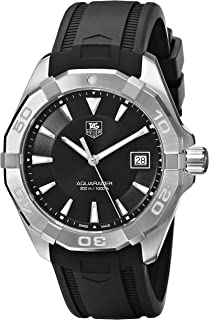 Men's WAY1110.FT8021 300 Aquaracer Stainless Steel Watch with Black Rubber Band