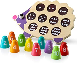 Play Brainy Fun, Kid-Friendly and Math Educational- Easy Number Game-Toddler Puzzle- 3D Baby Animal Hedgehog Puzzle- STEM Learning Toy- Ideal for Baby, Toddler, and Kids., Multicolored