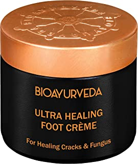 BIOAYURVEDA Ultra Healing Foot Cream  Non Greasy Foot Moisturizer  Natural Lavender & Eucalyptus - Soothes Dry, Cracked, Rough, Callused Heels & Feet, Toenail Infection, Scars  All Skin Type 60GM