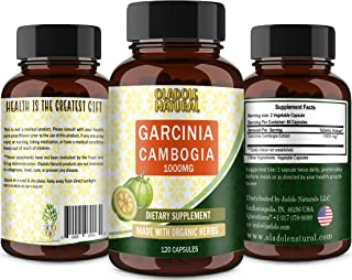 Oladole Natural Pure Garcinia Cambogia Extract 1000mg 120 Capsules Easy-To-Swallow Veggie