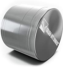 Golden Gate Grinders Herb Grinder 2.5 Inch Ultimate 4-piece Anodized Aluminum (Silver, Large)