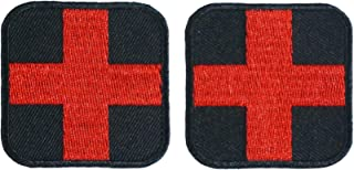Graphic Dust 2 Pieces Red Cross Medic Embroidered Iron On Patch Applique