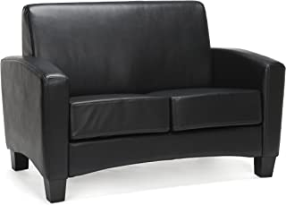 Essentials Traditional Armed Loveseat, Black