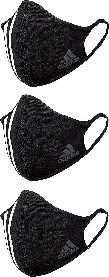 Mascherine adidas face cover 3s accessori: unisex-adulto nero/bianco/grafite (nero) m HF7045