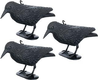 Ahuyentador de palomas, cuervo y cuervos contra aves pequeñas y palomas, ahuyentador de pájaros, ahuyentador para animales, disuasión aprox. 36 cm.