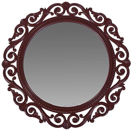 Smera 40 x 40 cm Beautiful Elegance Designer Frame Wall Mirror for Home (Cola)