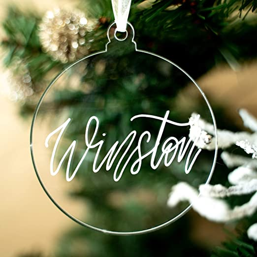 UNIQOOO 3 1/4 Clear Lantern Acrylic Christmas Ornament 2020, DIY Blank  Christmas Bauble Tree Decoration, Stocking Name Tag, Holiday Tags, Momento,  4mm Extra Thick, 20 Pack: Amazon.ca: Home & Kitchen