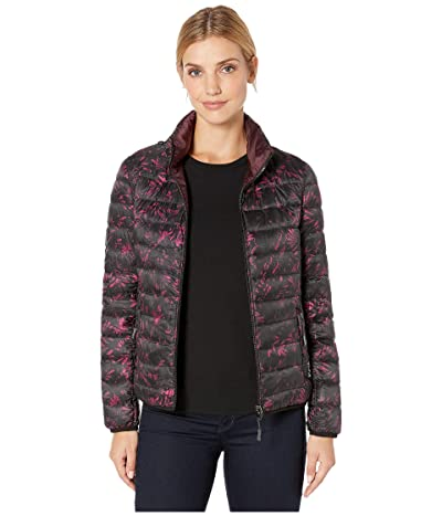 Tumi Clairmont Reversible Packable Puffer Jacket (Floral Tapestry/Merlot) Women