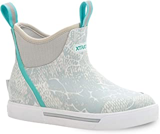 Xtratuf Women's Wheelhouse 6 In Ankle Deck Boot, Blue Coho Print