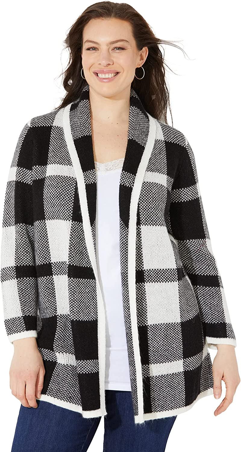 Catherines Women's Plus Size Country Village Sweater Cardigan