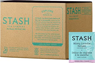 Stash Tea Minty Licorice Delight Herbal Tea 100 Count Tea Bags (packaging may vary) Individual Herbal Tea Bags for Use in Teapots Mugs or Cups, Brew Hot Tea or Iced Tea