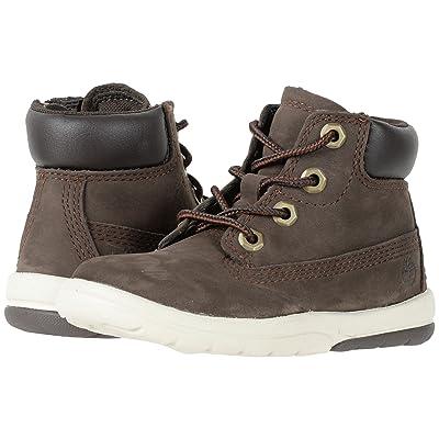 Timberland Kids Toddle Tracks 6 Boot (Toddler/Little Kid) (Dark Brown Nubuck) Kids Shoes
