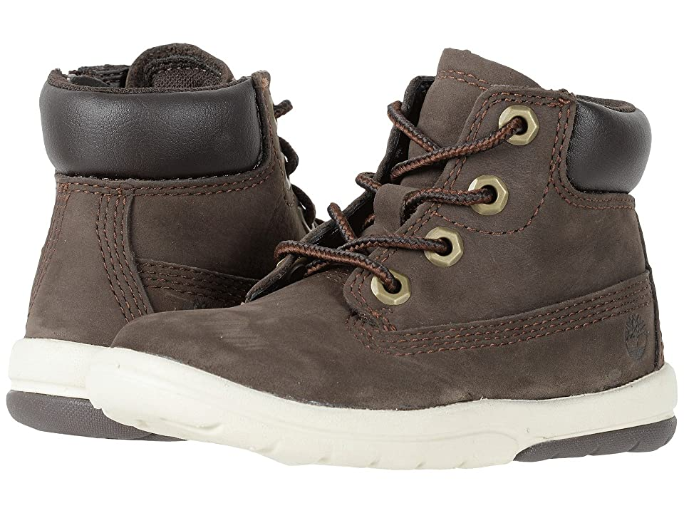 Timberland Kids Toddle Tracks 6 Boot (Toddler/Little Kid) (Dark Brown Nubuck) Kids Shoes