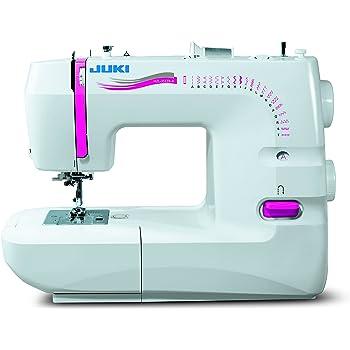 JUKI máquina de Coser mecánica, Metal, Blanco, 41 x 17,7 x 30,8 cm ...