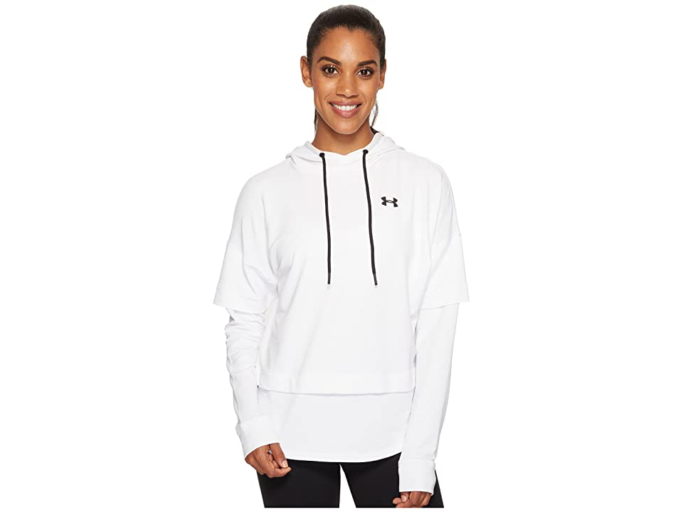 Under Armour Featherweight Fleece 2-in-1 (White/Black) Women