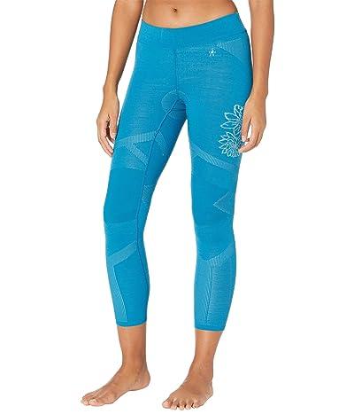 Smartwool Intraknit Merino 200 Pattern Bottoms (Ocean Abyss/Wave Blue Floral Scape) Women