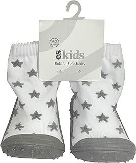 ES Kids Rubber Soled Socks - Grey Star 12-18mths, Grey