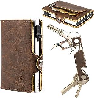 Portafoglio Piccolo Porta Carte Di Credito Tessere Documenti Mini Uomo Donna Pelle Schermato Distinto Protezione RFID NFC ...