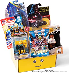 Toy Box Monthly - Kids Toy Subscription Box. Receive 4-6 Small Licensed Toys for Boys Ages 4 to 8