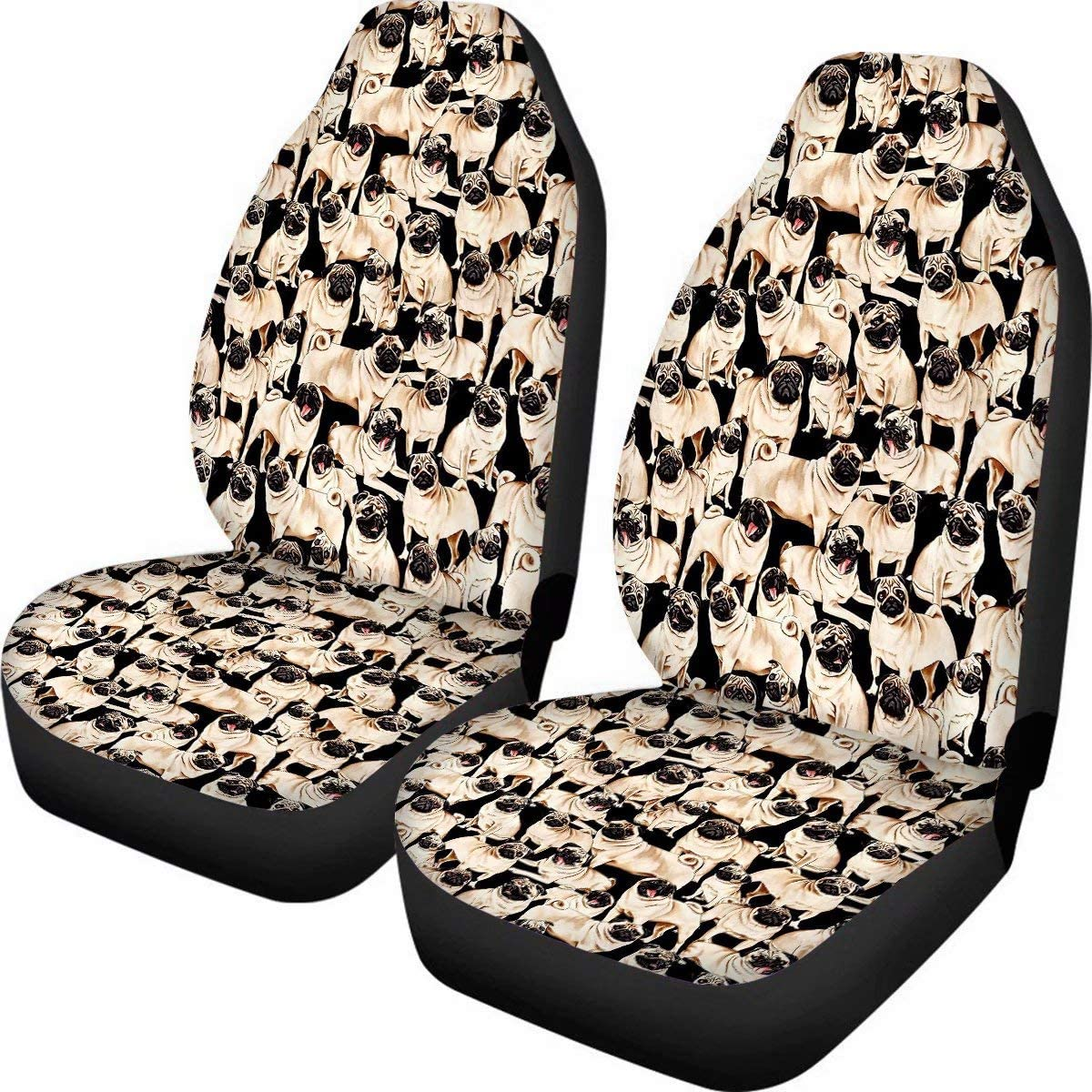 Freewander Pug Cute Award-winning store Women Car Protector Cus Discount is also underway Seat Covers