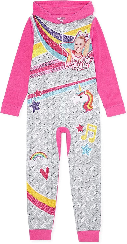 Jojo Siwa Girls Exclusive Blanket Sleeper Size Girls 7-8 Pink, Grey