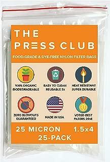 25 Micron | Premium Nylon Tea Filter Press Screen Bags | 1.5