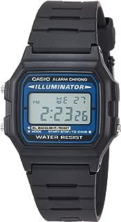 Casio Unisex-Adult Quartz Watch, Digital Display and Resin Strap, F-105W-1AWYEF