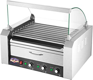 5200 Great Northern 9 Roller Grilling Machine   Bun Warmer   Cover   24 Hot Dogs
