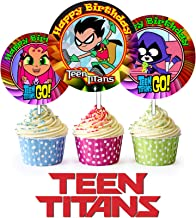 Crafting Mania LLC 12 Teen Titans Inspired Party Picks, Cupcake Picks, Cupcake Toppers #1