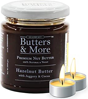 Butters & More Vegan Hazelnut Butter with Dark Cocoa & Organic Palm Jaggery (200G). Healthy Chocolate Spread. with a Surpr...