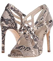 The Kooples - High Sandals in Natural Embossed Python