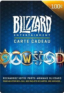 Carte cadeau Blizzard 100 EUR   Téléchargement PC - Code