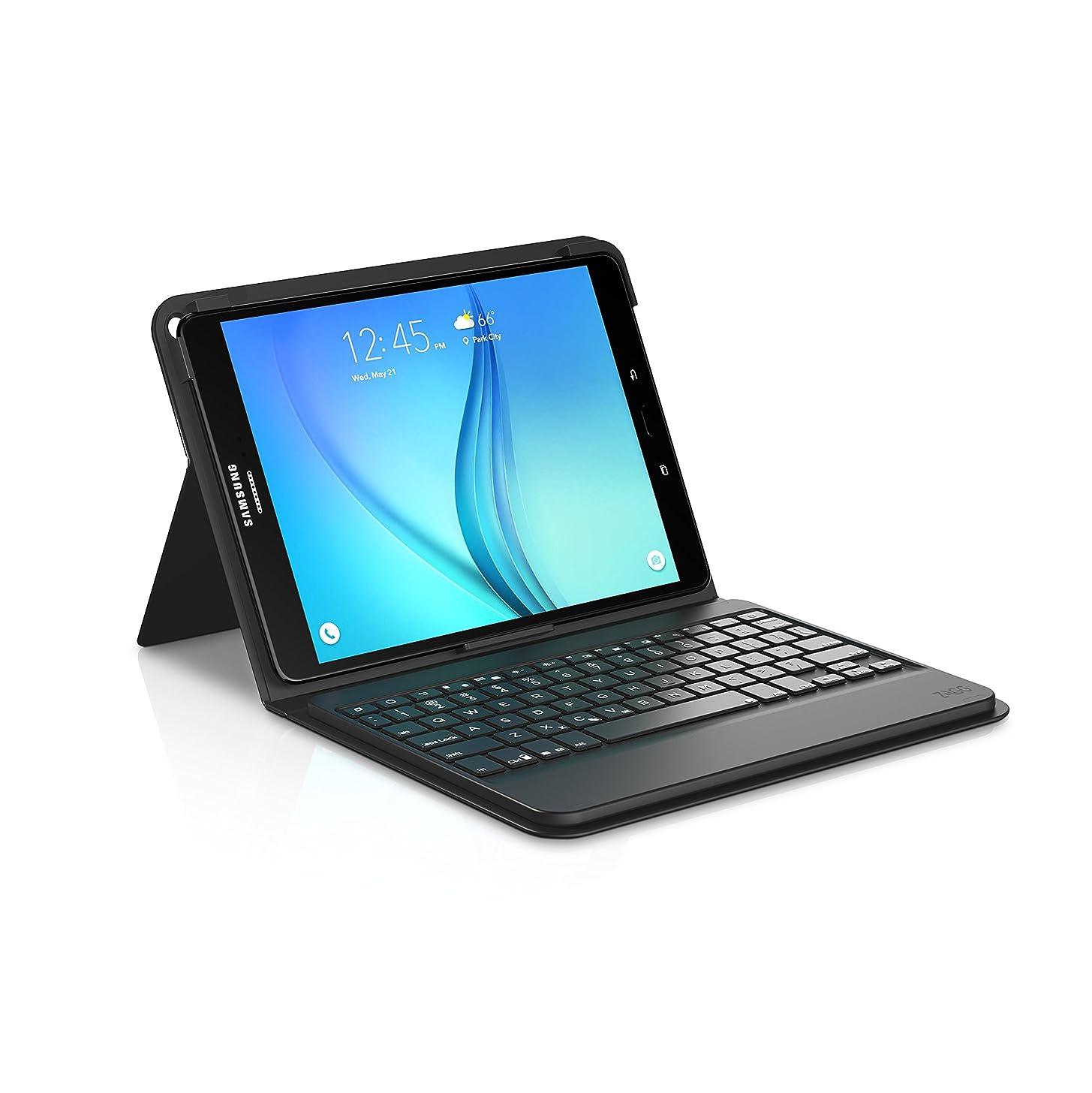 ZAGG Messenger Folio Case and Bluetooth Keyboard for Samsung Galaxy Tab A 9.7 - Black