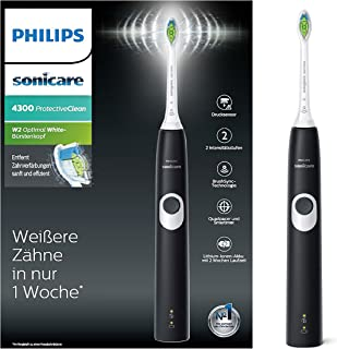 Philips 飞利浦 Sonicare Protectiveclean 4300 电动牙刷,采用声波技术 黑色