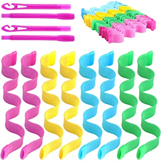 36 Pcs Magic Hair Roller Curlers Heatless Styling Kit with 2 Pcs Hair Hooks for Women Girls (9.8inches)