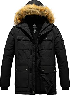 Wantdo Men's Winter Coat Fur Hooded Thicken Parka Puffer Jacket