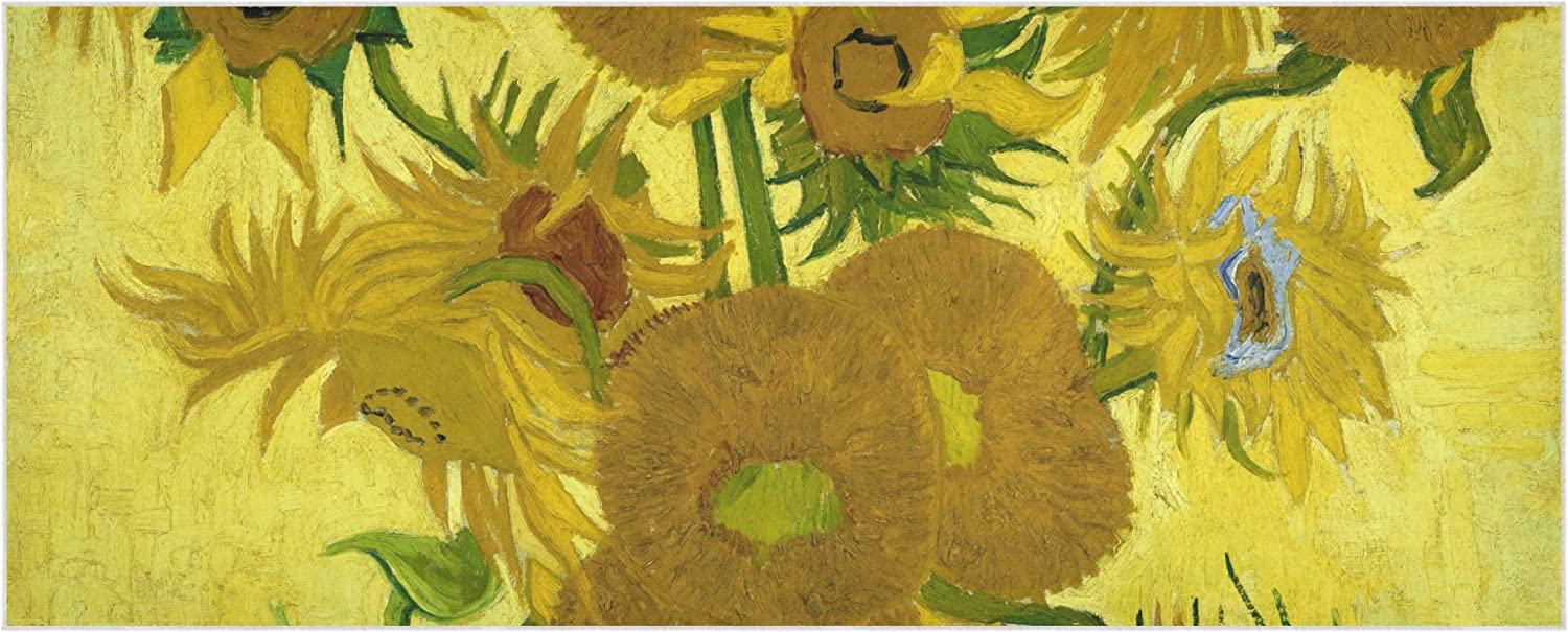 Vase With Fifteen Sunflowers By Van Gogh Winter Scarf 70.9x27.6 Inch Polyester Women Christmas Shawl Soft Comfortable Blanket Scarf Suitable For Parties Work Travel