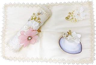 Salve Regina Hand Made Catholic Christening/Baptism Kit for Baby Girls - Model 14