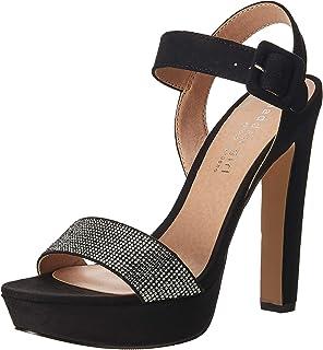 Steve Madden Women's Rollo-R Black Fabric Fashion Sandals-4.5 UK/India (37 EU) (6.5 US) (882946287383)