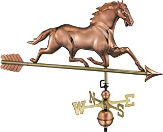 Good Directions 580PA Racing Horse with Arrow Weathervane, Polished Copper