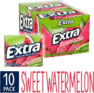 EXTRA Sweet Watermelon Sugarfree Gum, 15 Pieces (Pack of 10)