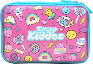Smily Kiddos   Fancy Double Compartment Pencil Case (Pink)   Hardtop Pencil Case   Birthday Returns Gifts   Pencil Case fo...