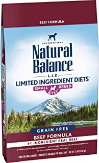 Natural Balance L.I.D. Limited Ingredient Diets Small Breed Bites Dry Dog Food, Grain Free