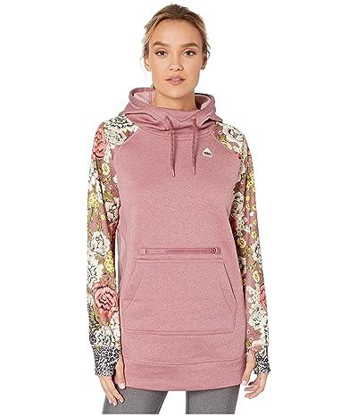 Burton Oak Long Hoodie Pullover (Rose Brown Heather/Cheetah Floral) Women