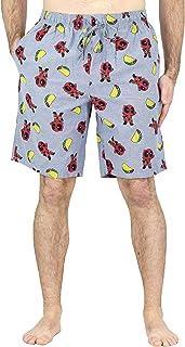 Marvel Mens Superhero Woven Pajama Sleep Shorts